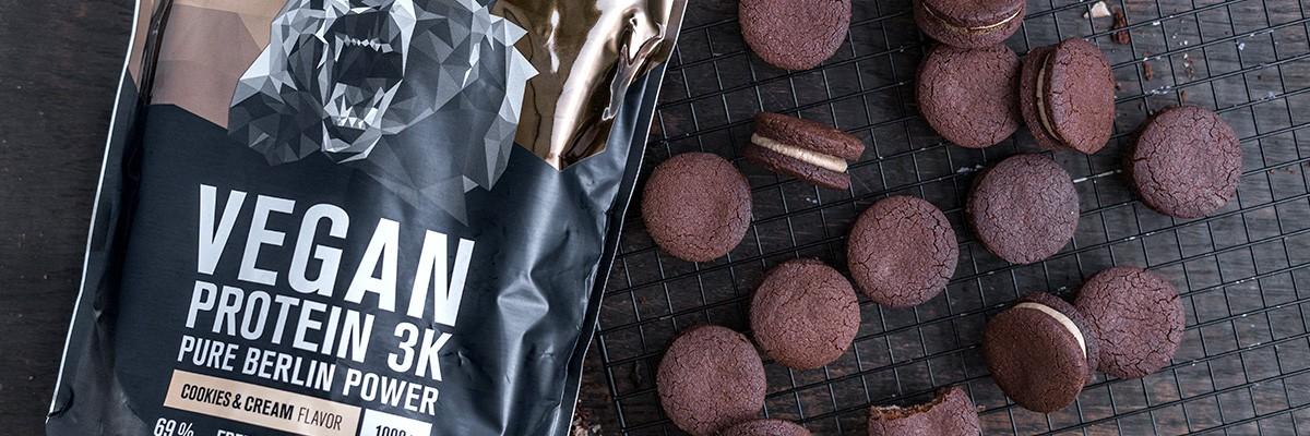 Biscuits protéinés - vegan et sans sucre