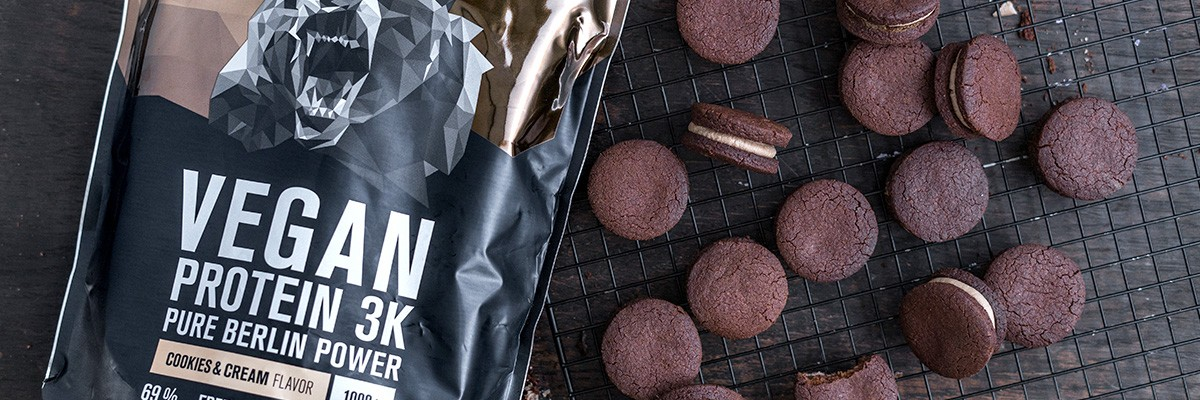 Biscotti oreo proteici vegan