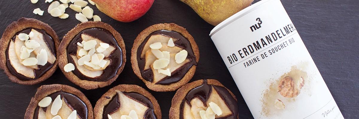 Tartine con pere e cioccolato senza glutine