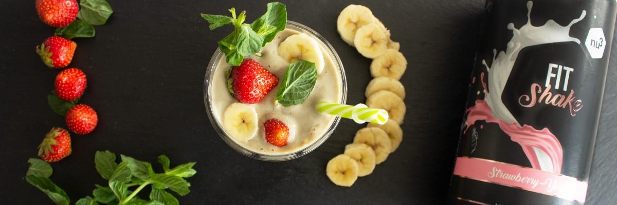 Erdbeer-Bananen-Protein-Shake
