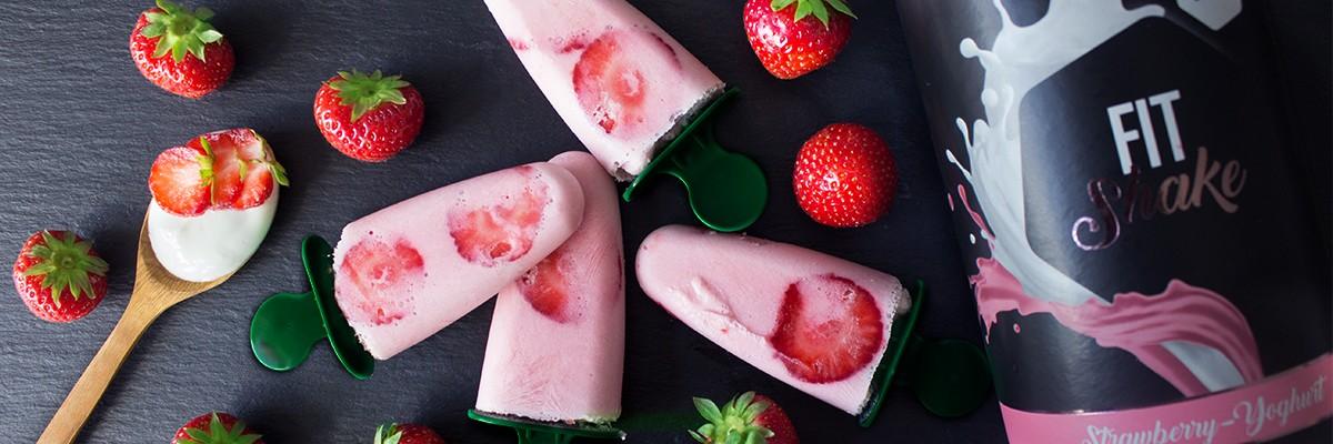 Mini gelati alla fragola e basilico
