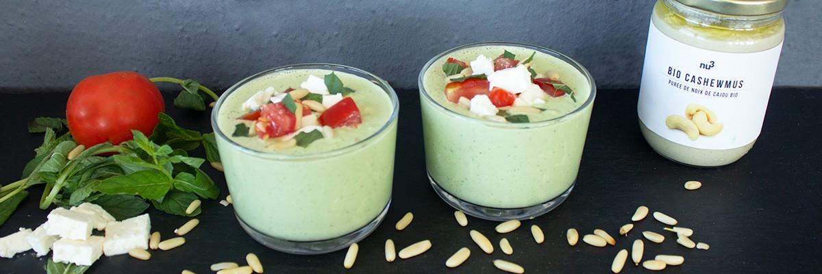 Gazpacho di cetrioli e zucchine