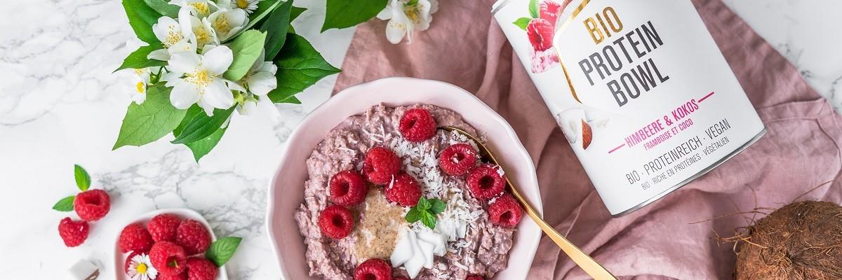 Porridge protéiné framboise - coco