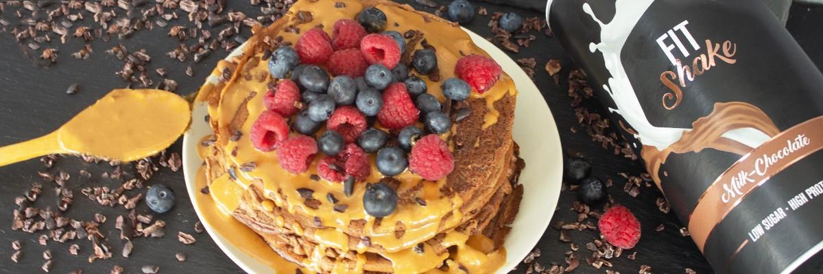 Fit Pancakes cioccolato-burro di arachidi