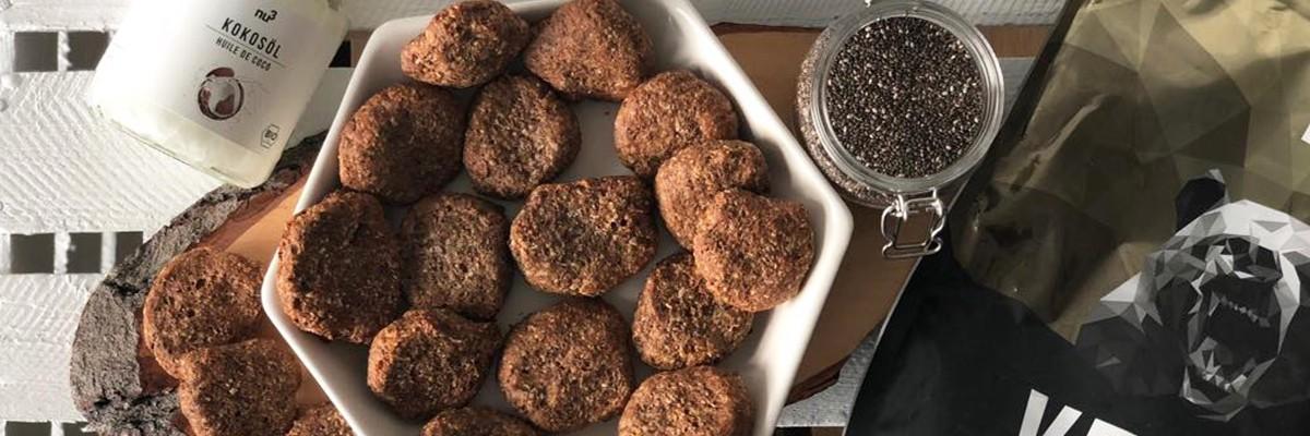 Biscuits hyperprotéinés vegan