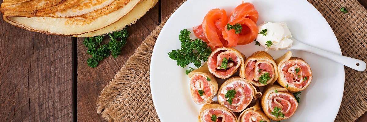 Wraps au saumon fumé