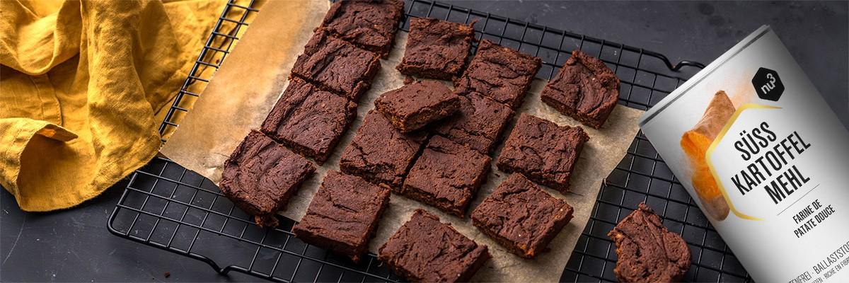 Süßkartoffel-Brownies vegan & glutenfrei