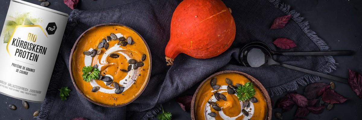 Kürbissuppe mit Kartoffeln und Möhren