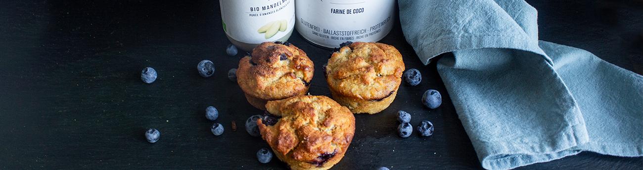 Muffins vegan à la myrtille