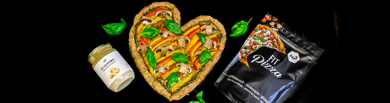 Fit Pizza de Saint-Valentin aux légumes