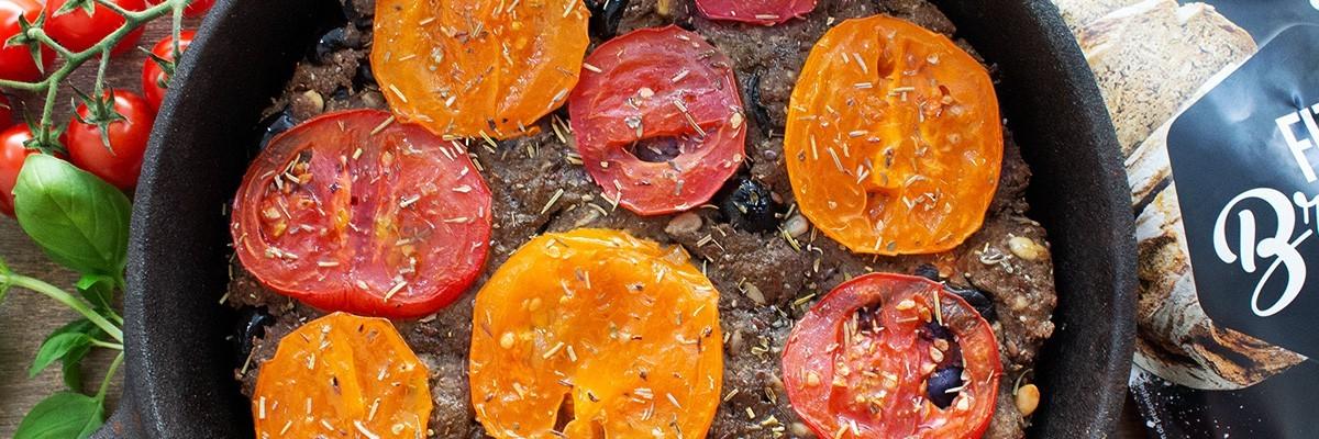 Fougasse aux olives low carb