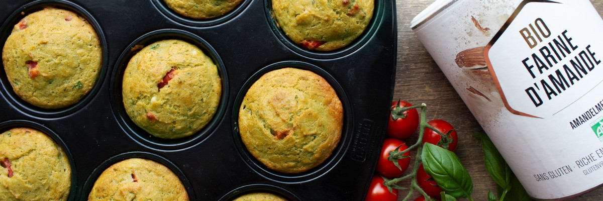 Muffin low carb al pesto