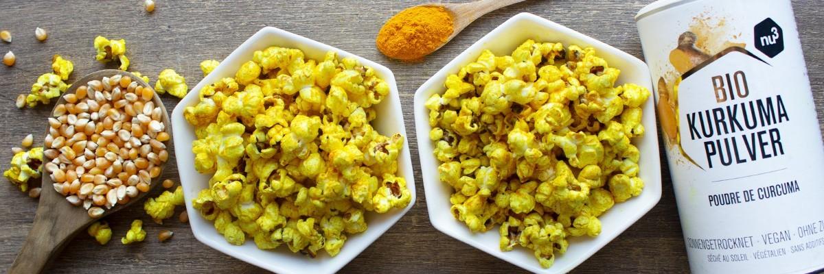 Pop corn salé au curcuma
