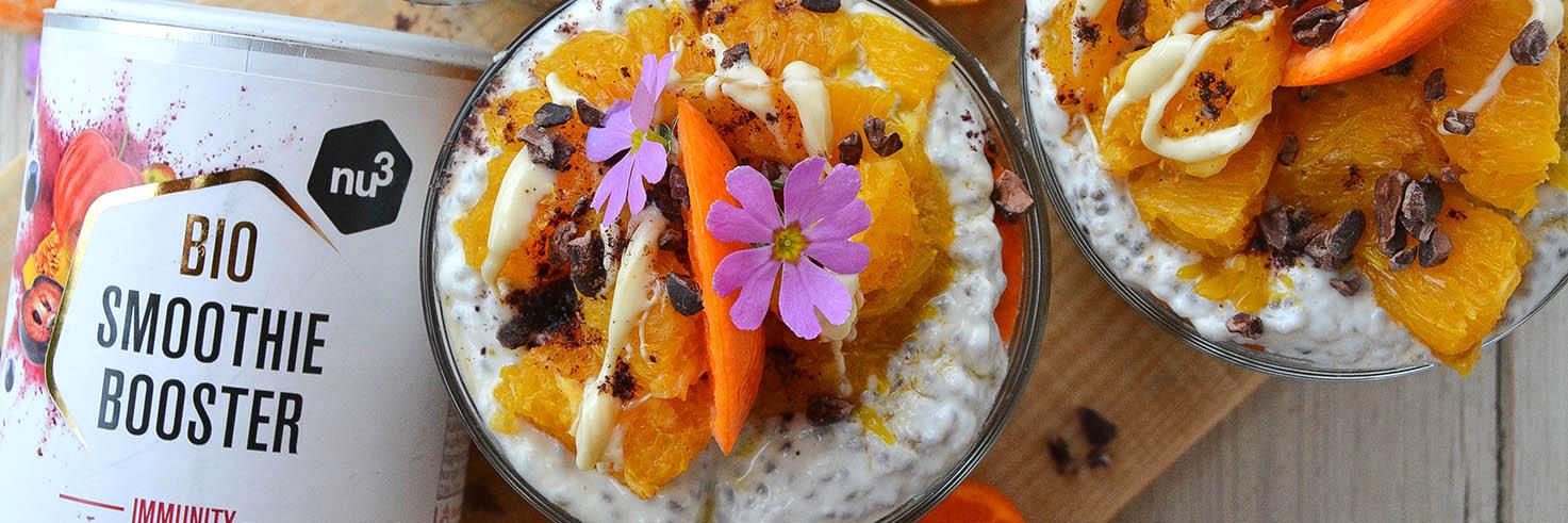 Vasetti di porridge all'arancia