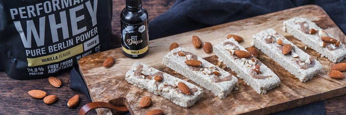 Vanille-Mandel Eiweißriegel-Rezept