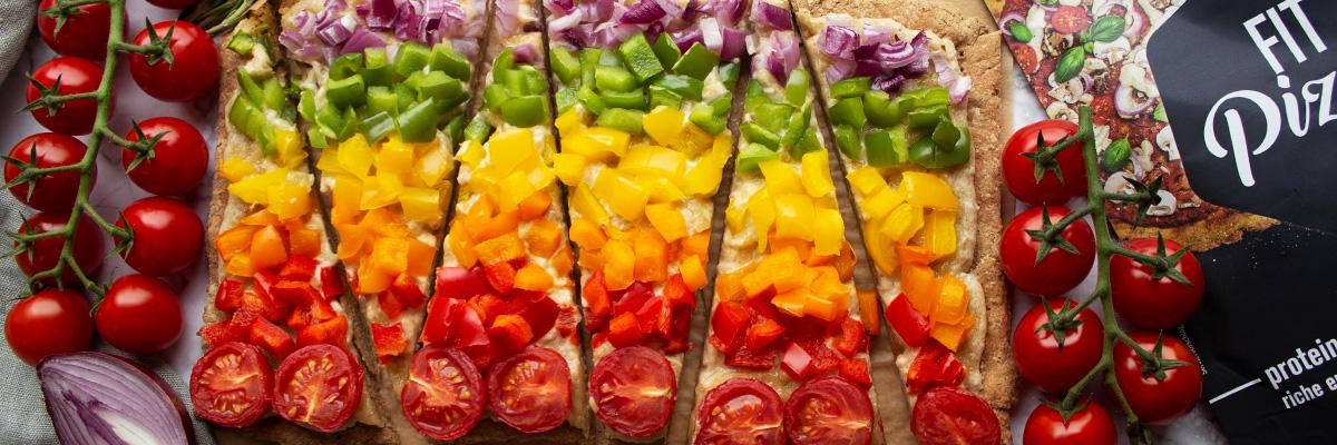 Pizza rainbow low carb et sans gluten