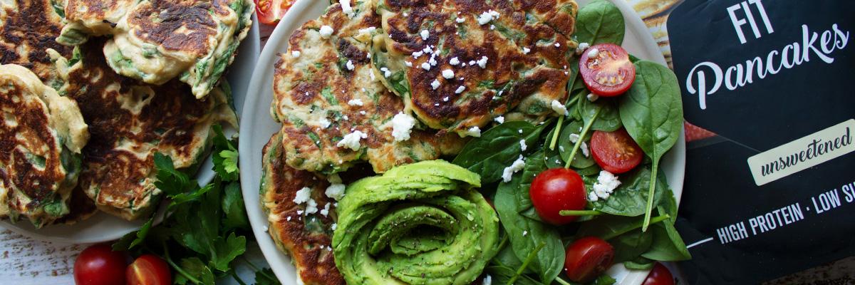 Pancakes salés sans gluten épinards-feta