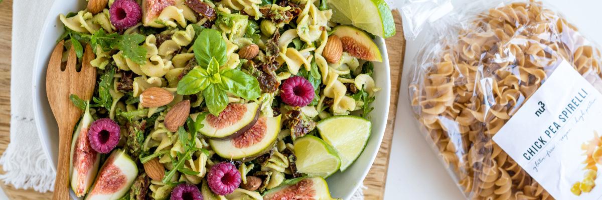 Salade de pâtes sans gluten au pesto