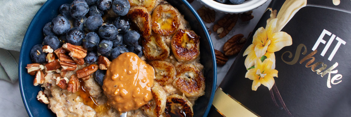 Porridge proteico alla vaniglia