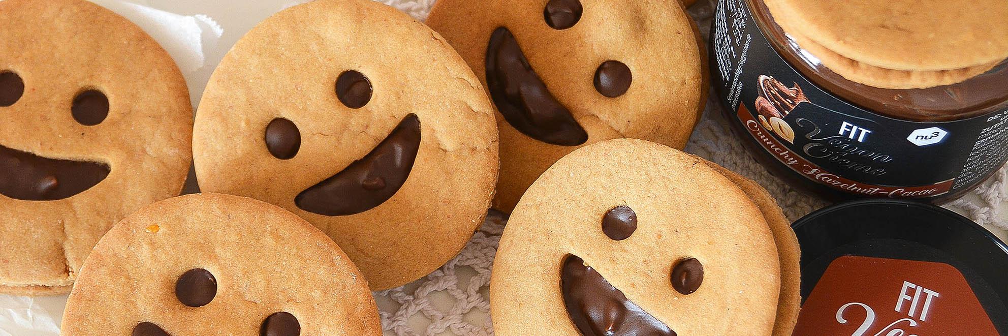 Biscuits vegan fourrés au chocolat