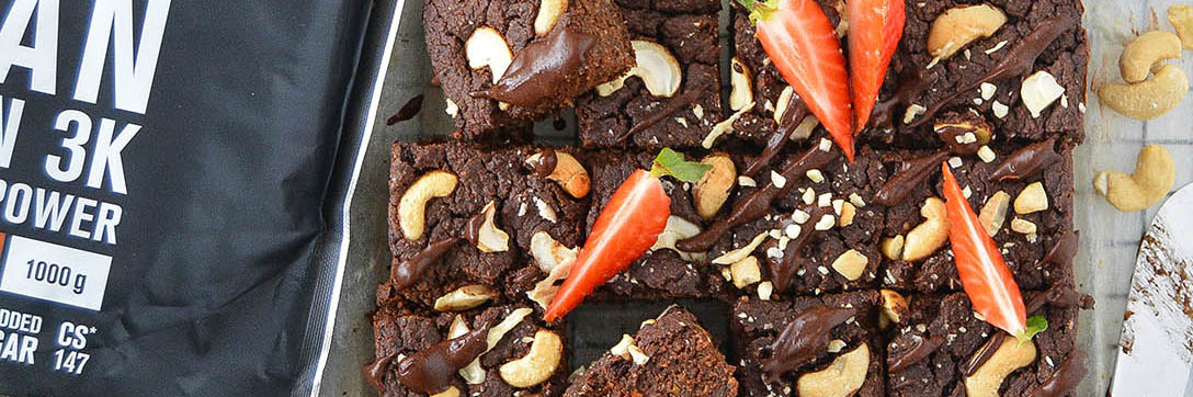 Brownie proteici vegani