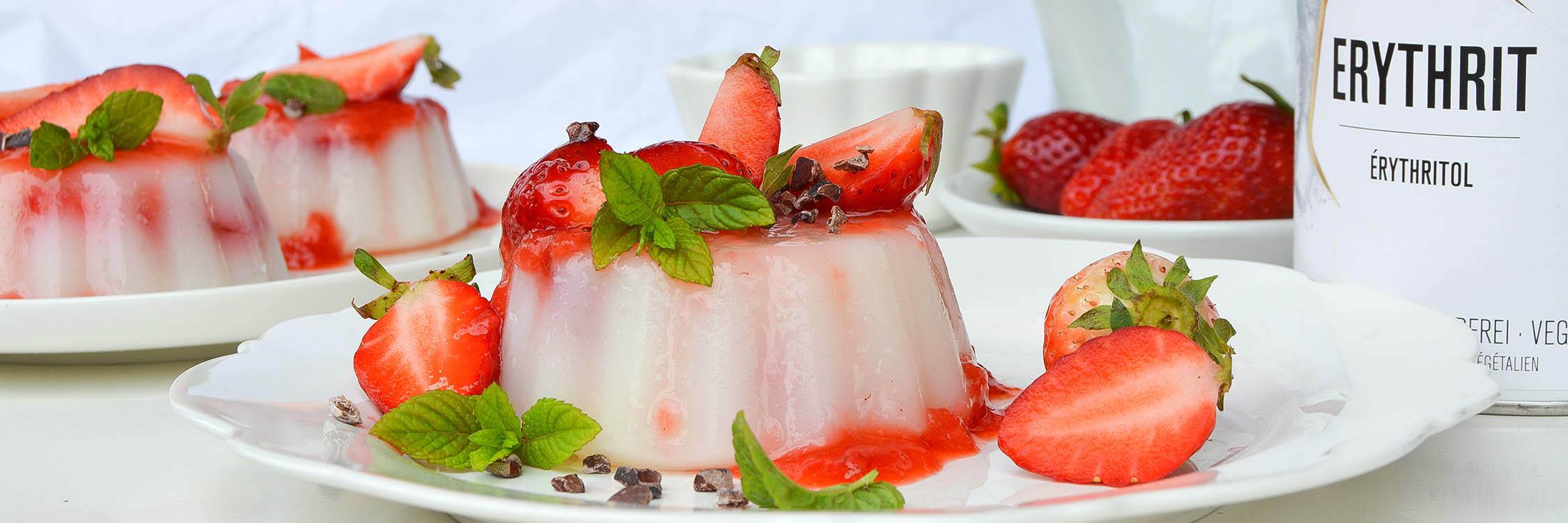 Panna cotta vegan à la fraise
