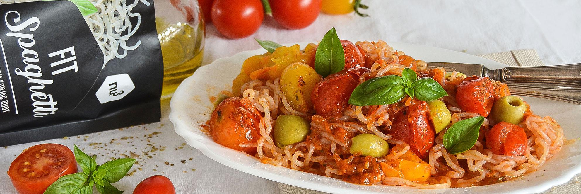 Spaghetti pomodorini e olive